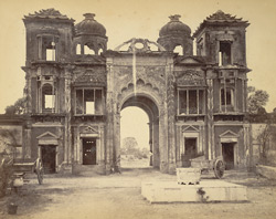 Secundra Bagh Gate, [Lucknow], from the garden, North.